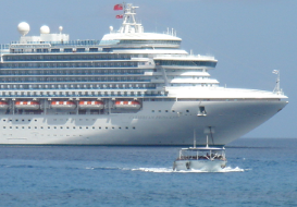 August cruise arrivals up 57%